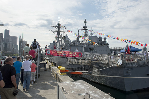 SEATTLE (NNS) -- Nine Seattle area educators, along with leadership from Navy Recruiting District (NRD) Seattle and USS Momsen (DDG 92), visited Arleigh Burke-class destroyer USS Howard (DDG 83) for an educator luncheon and tour during the 65th Annual Seafair celebration.