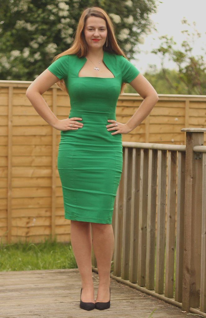 Green ASOS pencil dress