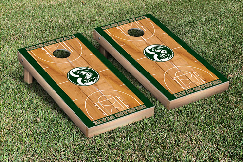 Colorado State University Rams Cornhole Game Set Basketball Version