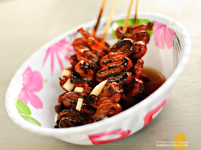 Isaw at Vigan Empanadahan in Plaza Burgos