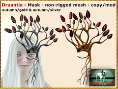 Bliensen - Druantia - Mask - autumn gold & autumn silver