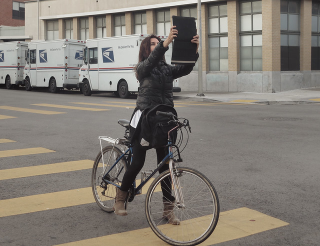 Maite on bicycle (2014)