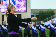 Director of Bands Dr. Mallory Thompson Conducts the University Hymn ::     The Northwestern University 'Wildcat' Marching Band gathers for its post-game ritual at  Ryan Field after Wildcat Football hosted California on August 30, 2014.  Photo by Daniel M. Reck '08 MSEd.