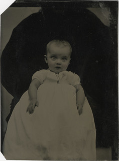 A Bright Eyed Baby with a (Possible) Hidden Mother Tintype