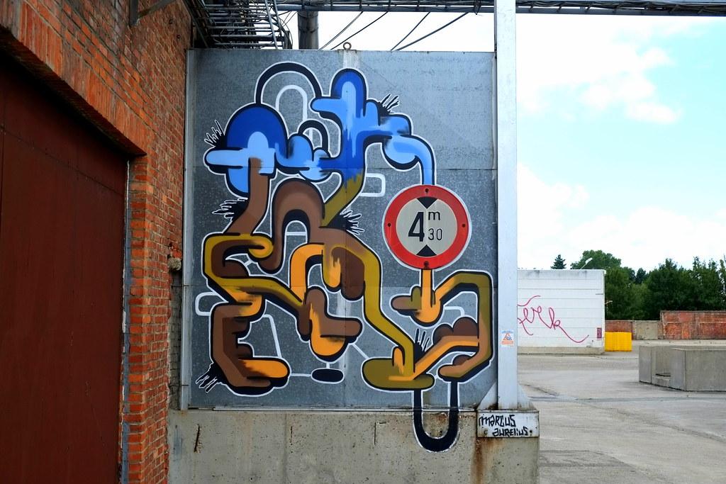 streetart   marcus aurelius   ghent . belgium