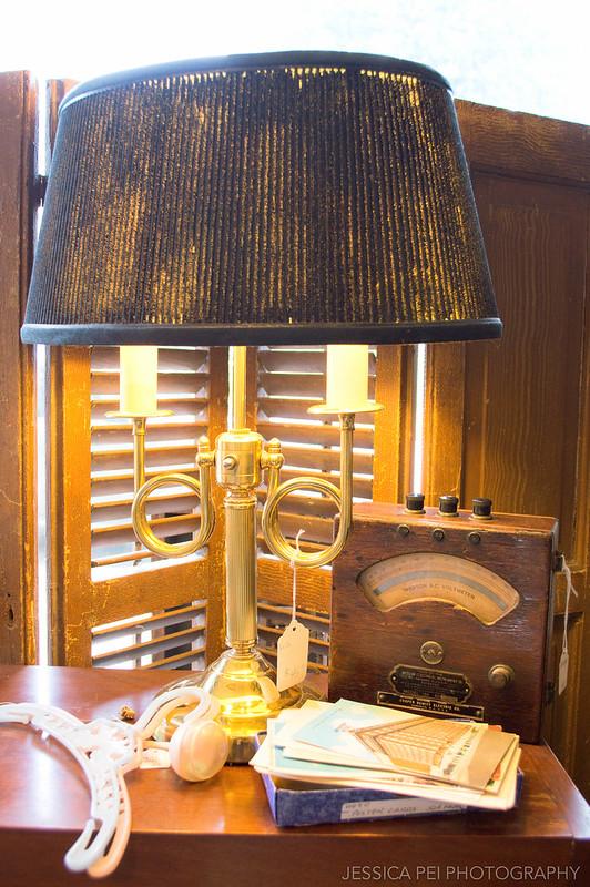 vintage antique old voltmeter lamp