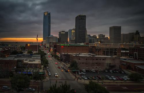 sunset oklahoma skyline canon downtown ok oklahomacity canoneos7d