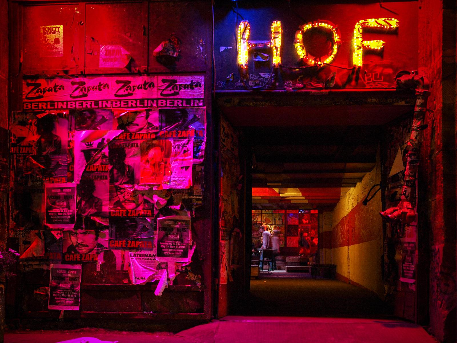 Architecture à Berlin - L'entrée du Café Zapata