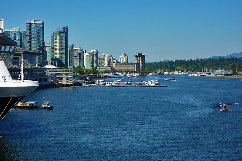 Coal Harbour viewed from Canada Place Cruise Ship Terminal, Vancouver, British Columbia