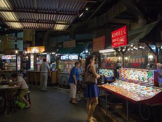 Hawker stalls bij de Singapore Flyer