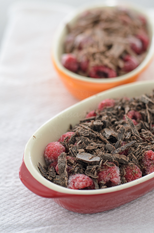 Raspberries, Chocolate Brown Betty