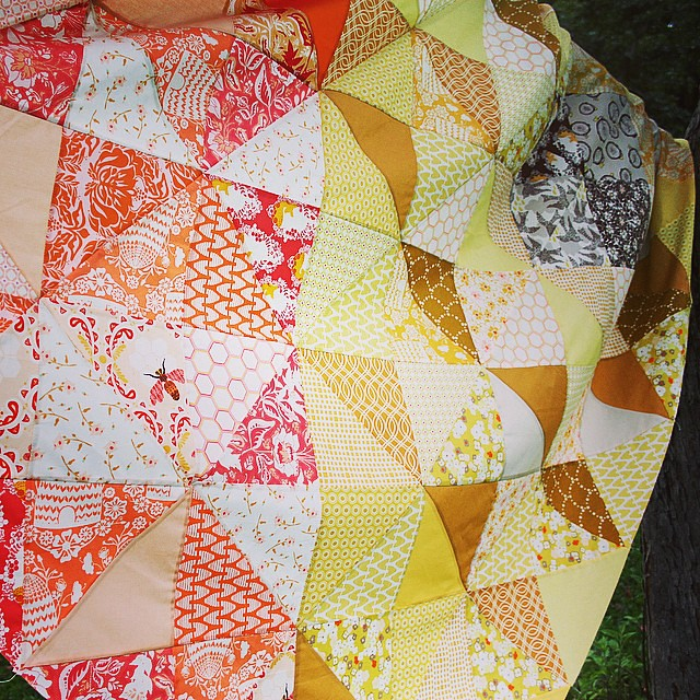 Autumn Sun Quilt Top = done!
