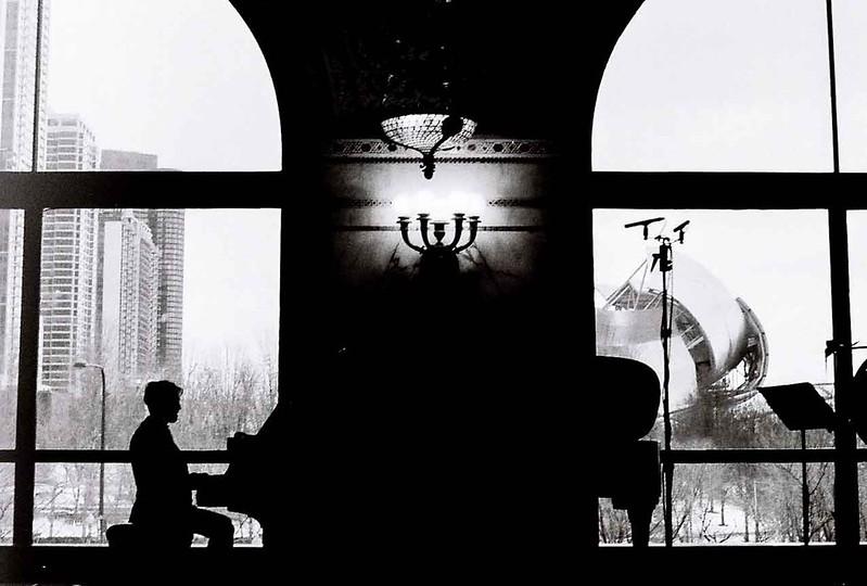 55/365: Piano Silhouette