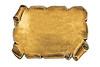 golden blank plate