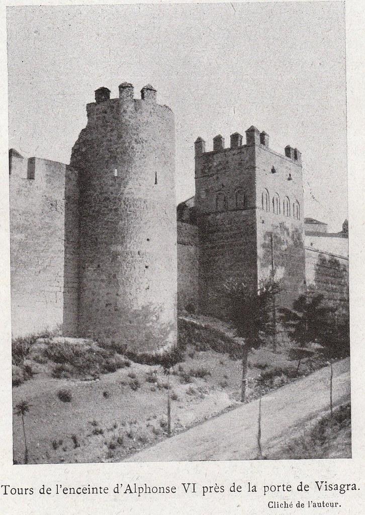 Torres de la Reina a comienzos del siglo XX. Fotografía de Élie Lambert publicada en su libro Les Villes d´Art Célebres: Tolède (1925)