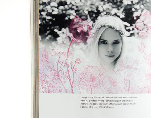 cutting edge fashion illustration - floral illustration over photo