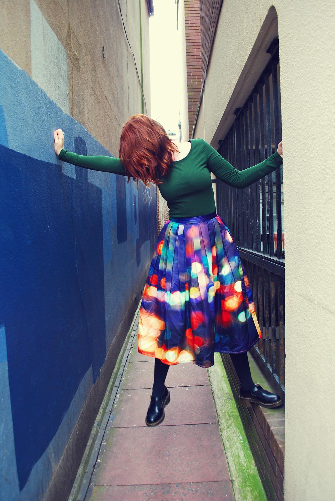 Bokeh skirt blogger style
