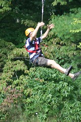 bungee jumping(0.0), rock climbing(0.0), abseiling(0.0), physical exercise(0.0), adventure(1.0), bungee cord(1.0), sports(1.0), recreation(1.0), outdoor recreation(1.0), extreme sport(1.0), person(1.0),