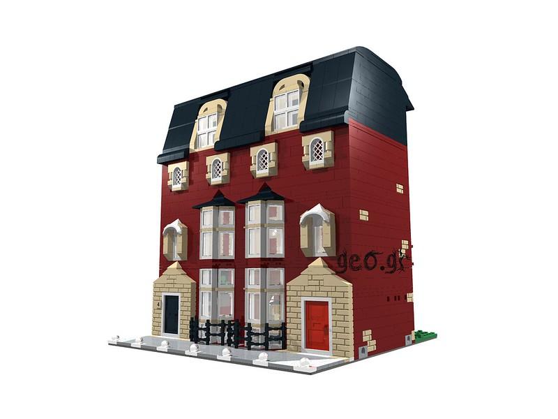 [Digital MOC]:Modular Bloomsbury House 15123688708_5104db8c9d_c