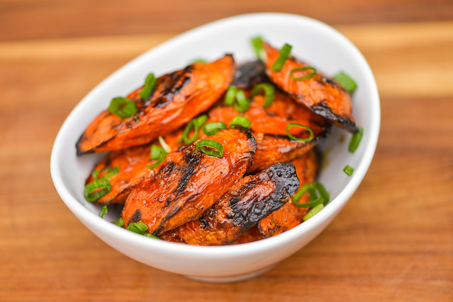 Grilled Carrots with Sweet Sou Glaze