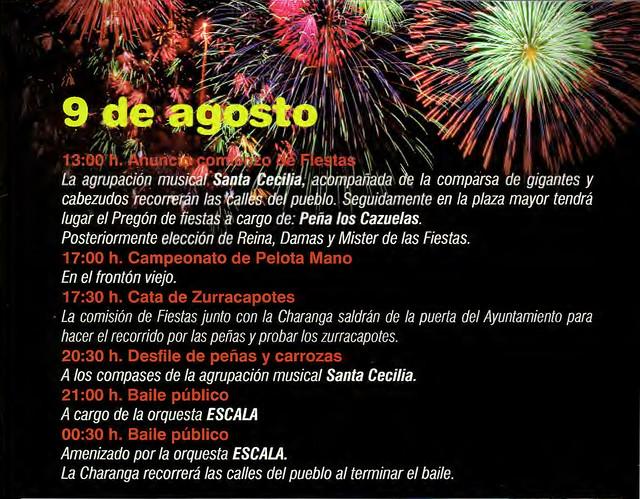 Programa Fiestas de San Lorenzo Año 2010