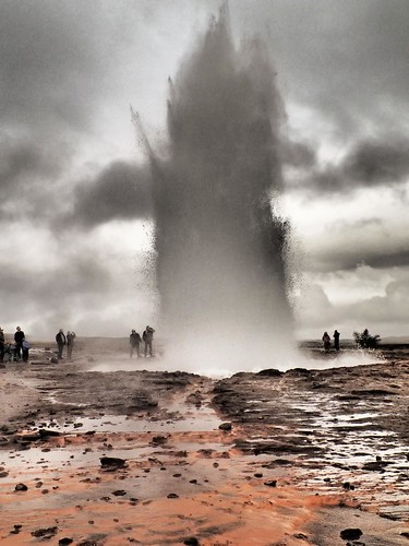Geysir geothermal eruption area Iceland