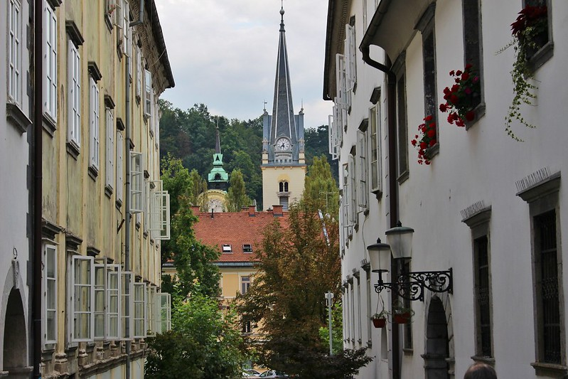 Ljubljana street and castle
