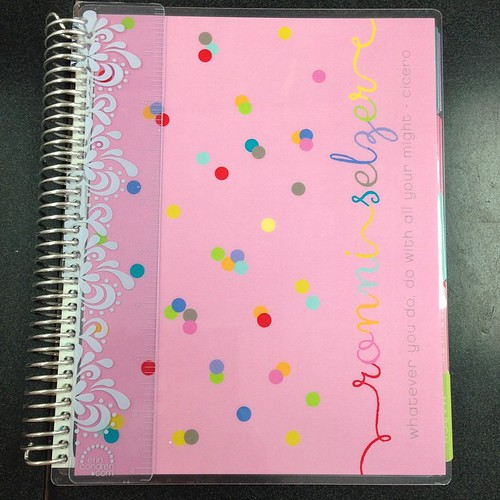 She is here!! My 2015 planner!!  #lifeplanner #eclp #erincondren #eclifeplanner14 #weloveec #organizedlife #pink