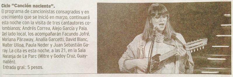 Canción Naciente Mendoza Argentina Junio 2014