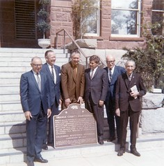 Former and current Orange County Supervisors at dedication of Old Orange County Courthouse as a State Historic Landmark, March 11, 1970
