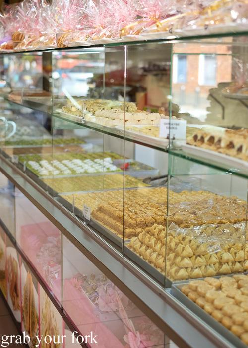 Baklava, pastries and shortbread biscuits at La Galette Patisserie, Merrylands