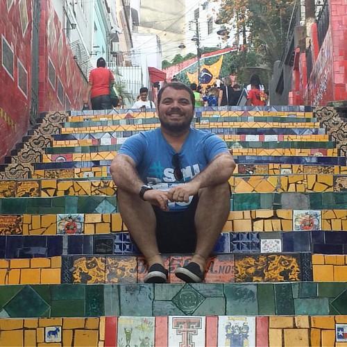 Escadaria do Selarón #tbt #lapa #escadariadoselaron