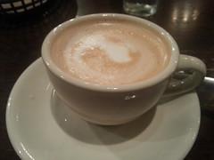 caffeine(0.0), espresso(1.0), cappuccino(1.0), flat white(1.0), mocaccino(1.0), hong kong-style milk tea(1.0), salep(1.0), cortado(1.0), coffee milk(1.0), caf㩠au lait(1.0), coffee(1.0), ristretto(1.0), caff㨠macchiato(1.0), caff㨠americano(1.0), drink(1.0), latte(1.0),