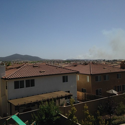 4s fire / plume as seen from our roof. Upwind is better.