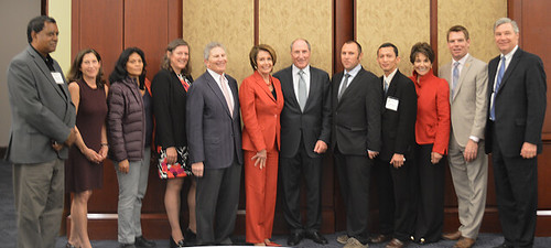 Congresswoman Nancy Pelosi greets 2014 Goldman Environmental Prize Winners