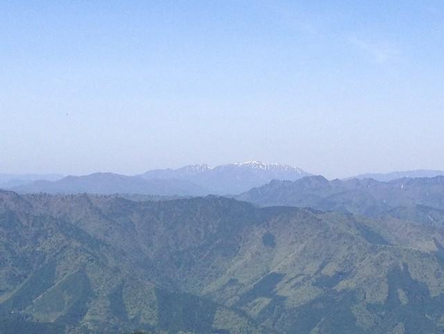 高賀山 山頂からの眺望 能郷白山