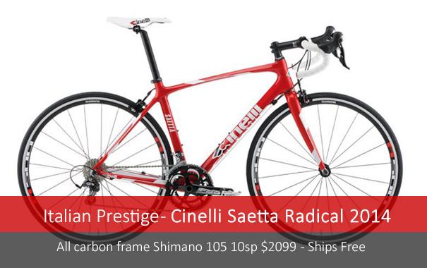 Cinelli Saetta Shimano 105 $2099