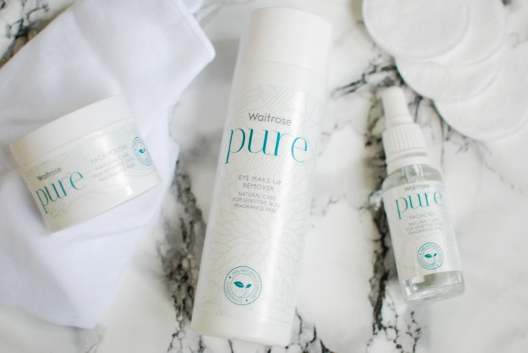 chambray and curls Waitrose PURE skincare review