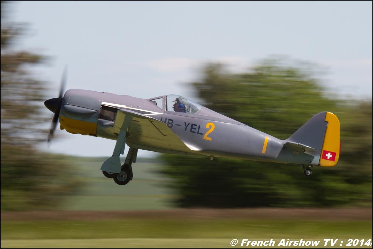 FW 190 HB-YEL & Spitfire F-PFAF, Meeting Aerien Til Chatel 2014