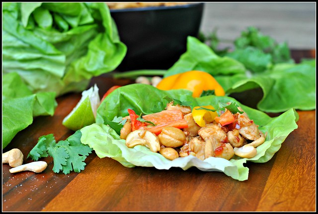 Cashew Chicken Lettuce Wraps 2