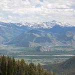 Jackson Hole from Teton Pass
