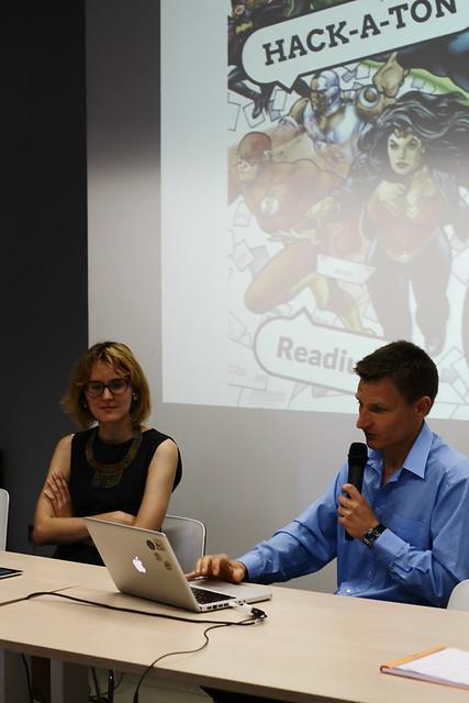 Cassandre Poirier-Si (Actialuna, freelance) et Daniel Weck (Readium) - Hackathon BD numérique au Labo de l'édition
