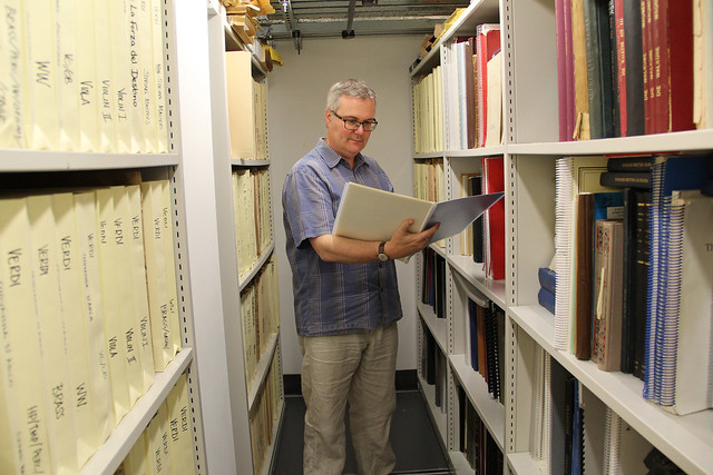 Music Library Manager Tony Rickard  © ROH / Photo by Ruairi Watson 2014
