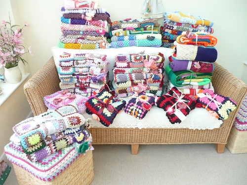 48 Sunshine Blankets ready to go! 'Cole Valley Nursing Home, Birmingham'. 21/07/2014