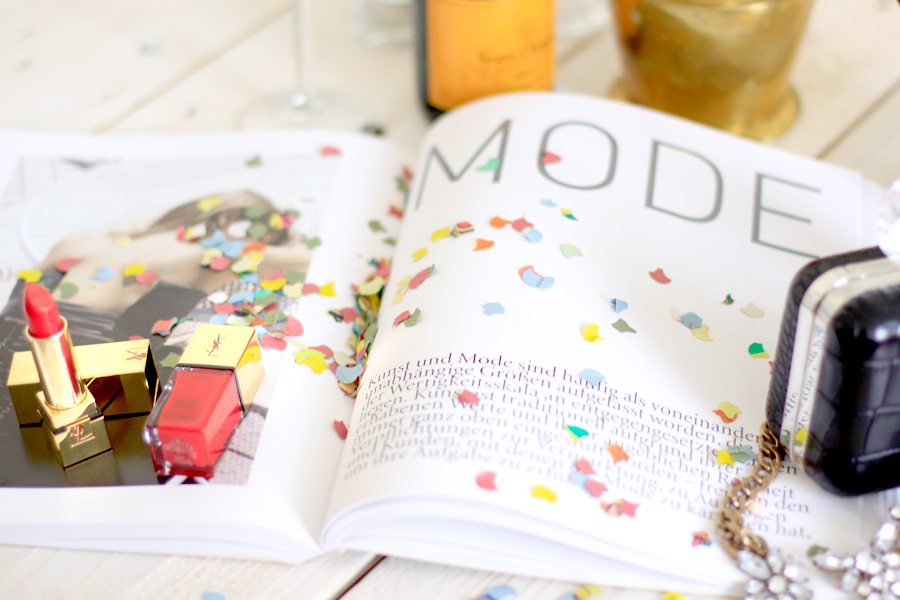 Celebrating the new CATS & DOGS layout look style webdesign confetti party veuve cliquot champagne Ricarda Schernus fashion blogger berlin 3