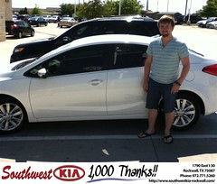 #HappyAnniversary to Jacob Markham on your 2014 #Kia #Forte from Steven Kravetz at Southwest KIA Rockwall!