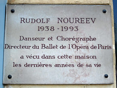 Photo of Rudolf Nureyev marble plaque