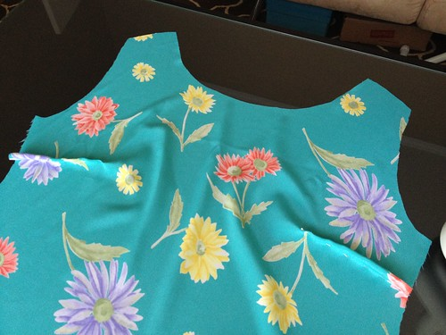 Floral Blouse - In Progress