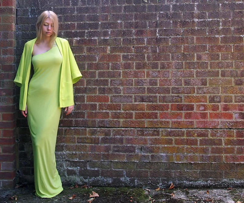 Fluoro, Fluorescent, Neon, Lime, Tu, Sainsbury's, Boohoo, One-Shoulder, Maxi Dress, Kimono, Blazer, SS14, Outfit Ideas, Styling Inspiration, Sam Muses, UK Fashion Blog, London Style Blogger, How to Wear