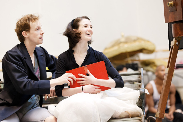 Edward Watson and Lauren Cuthbertson in rehearsal during the creation of Alice's Adventures in Wonderland in 2011
